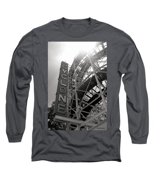 Cyclone Rollercoaster - Coney Island Long Sleeve T-Shirt by Jim Zahniser