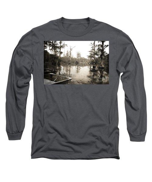 Cypress Swamp Long Sleeve T-Shirt by Scott Pellegrin