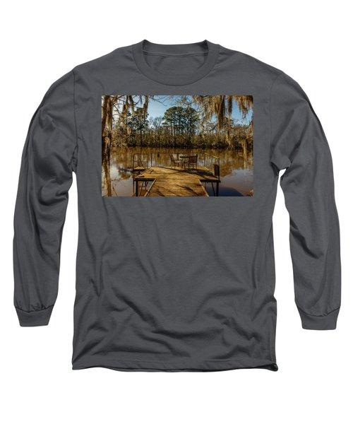 Cypress Trees At Caddo Lake State Park Long Sleeve T-Shirt