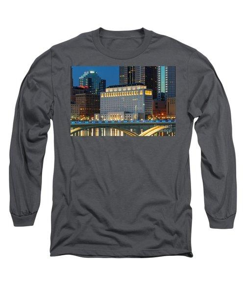 D2l496 Columbus Ohio Night Skyline  Long Sleeve T-Shirt