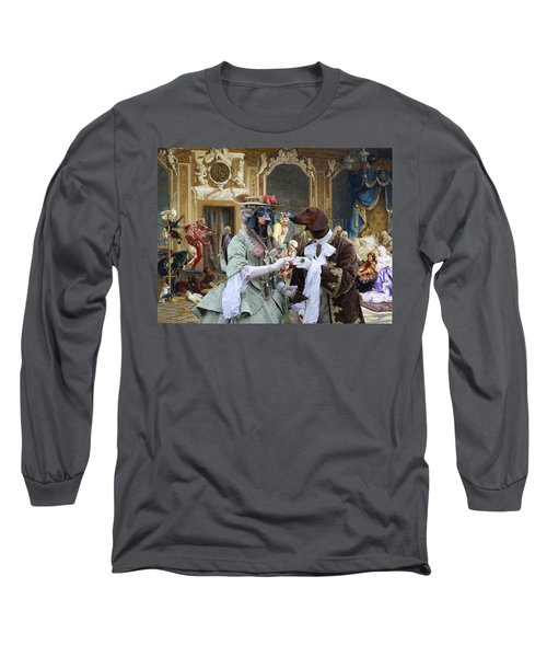Dachshund Art - Royal Party Long Sleeve T-Shirt