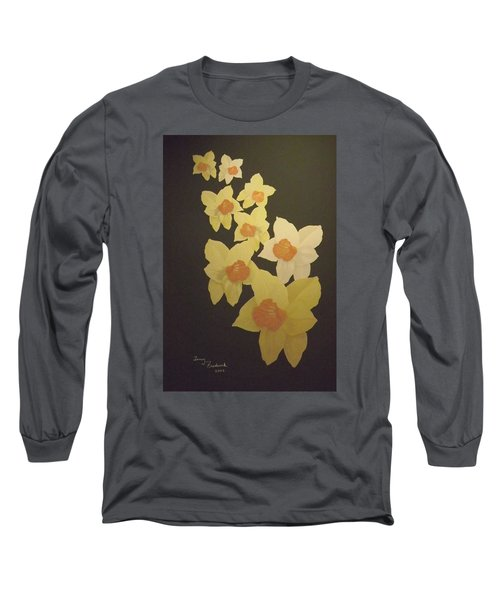 Long Sleeve T-Shirt featuring the digital art Daffodils by Terry Frederick