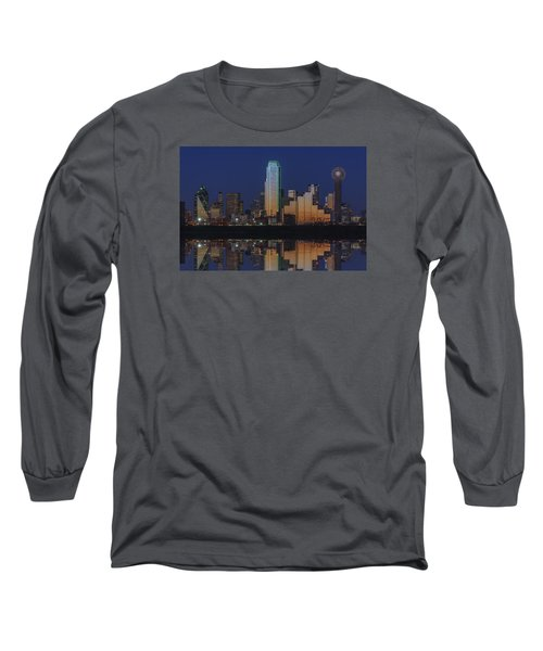 Dallas Aglow Long Sleeve T-Shirt by Rick Berk