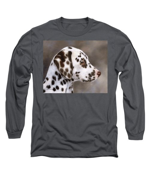 Dalmatian Puppy Painting Long Sleeve T-Shirt