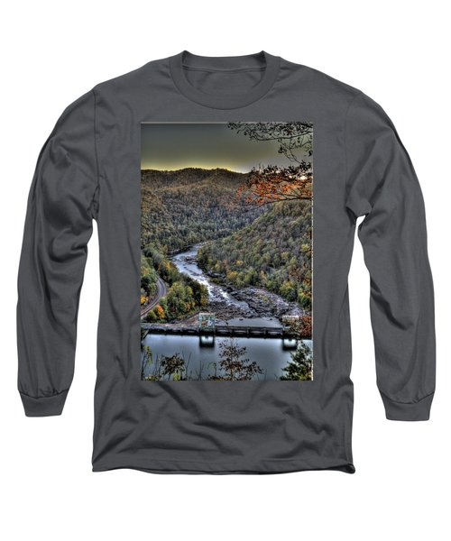 Long Sleeve T-Shirt featuring the photograph Dam In The Forest by Jonny D
