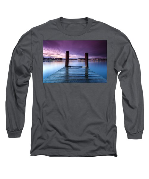 Long Sleeve T-Shirt featuring the photograph Damp Sunset by Jennifer Casey