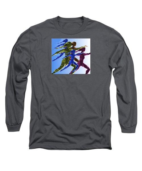 Long Sleeve T-Shirt featuring the digital art Dancers by Mary Armstrong