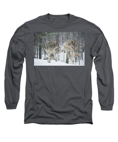 Long Sleeve T-Shirt featuring the photograph Dances With Wolves by Wolves Only
