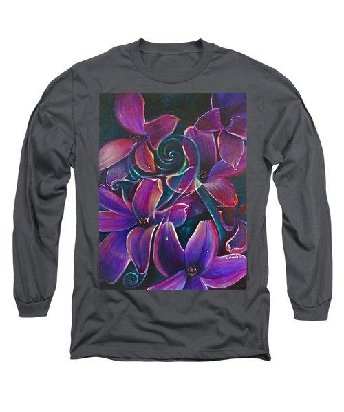 Dancing Hyacinths Long Sleeve T-Shirt
