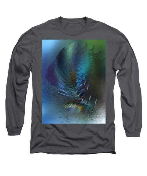 Dancing With The Wind-abstract Art Long Sleeve T-Shirt