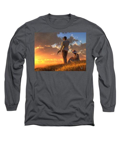 Danger At Sundown Long Sleeve T-Shirt