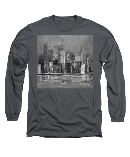Dark Clouds Over The City Long Sleeve T-Shirt