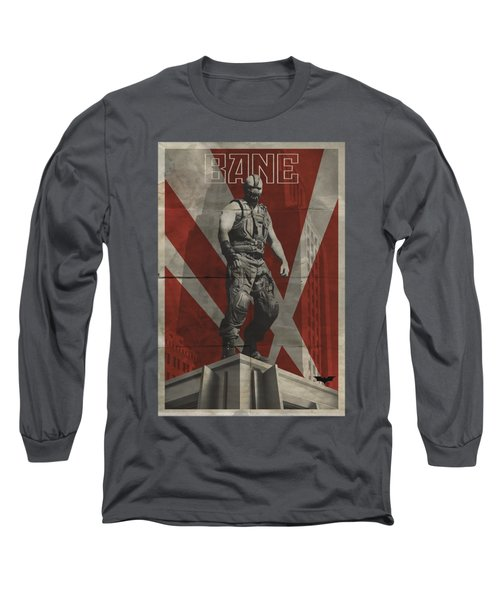 Dark Knight Rises - Bane Rooftop Poster Long Sleeve T-Shirt