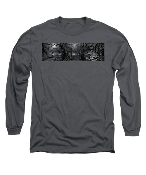 Darkness Has Crept In The Midnight Hour Long Sleeve T-Shirt by James Christopher Hill