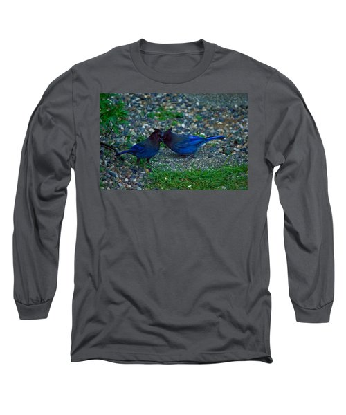 Darling I Have To Tell You A Secret-sweet Stellar Jay Couple Long Sleeve T-Shirt