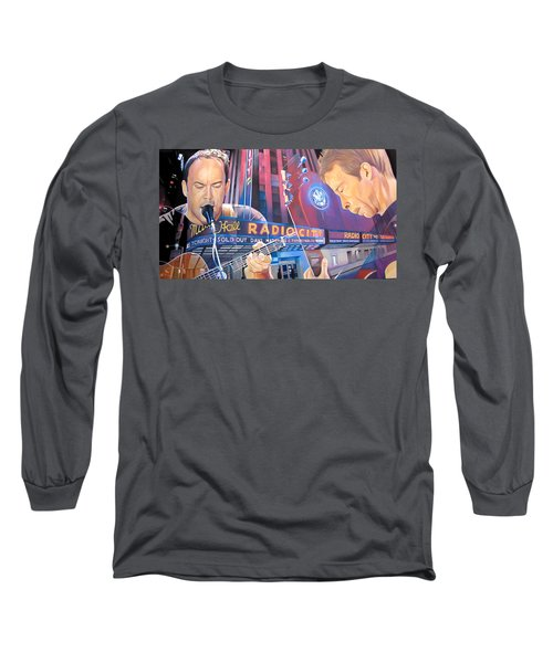 Dave Matthews And Tim Reynolds At Radio City Long Sleeve T-Shirt by Joshua Morton