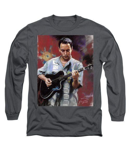 Dave Matthews Long Sleeve T-Shirt by Viola El