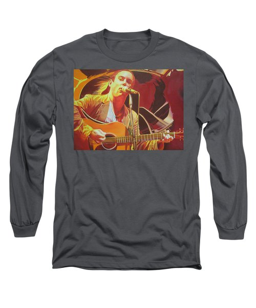 Dave Matthews At Vegoose Long Sleeve T-Shirt by Joshua Morton