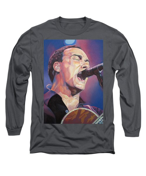 Dave Matthews Colorful Full Band Series Long Sleeve T-Shirt by Joshua Morton
