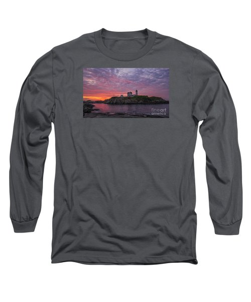 Dawn At The Nubble Long Sleeve T-Shirt by Steven Ralser