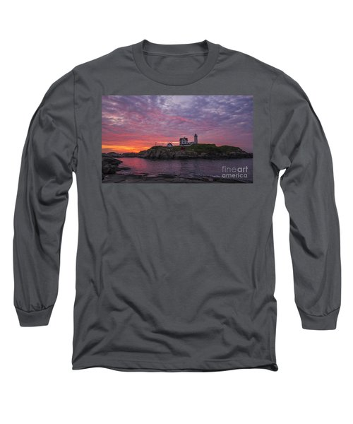 Dawn At The Nubble Long Sleeve T-Shirt