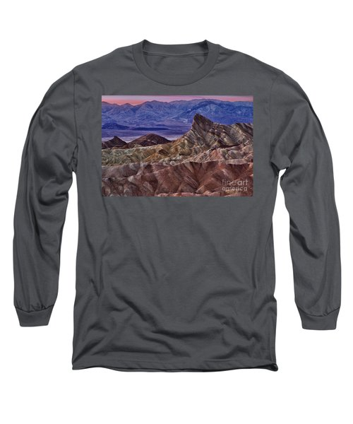 Dawn At Zabriskie Point Long Sleeve T-Shirt by Jerry Fornarotto