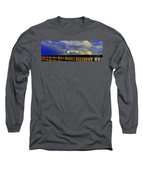 Daytona Beach Rail Bird Sun Glow Pier  Long Sleeve T-Shirt