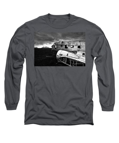Long Sleeve T-Shirt featuring the photograph Dc-3 Iceland by Gunnar Orn Arnason