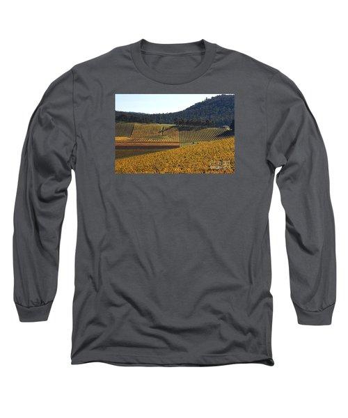 golden vines-Victoria-Australia Long Sleeve T-Shirt by Joy Watson
