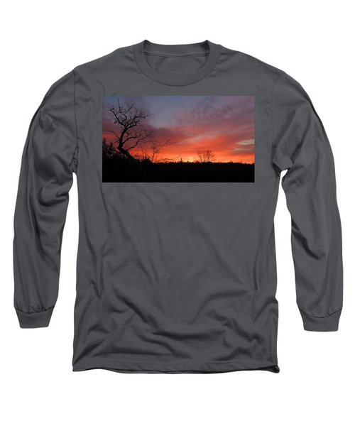 Dead Tree Sunrise Long Sleeve T-Shirt