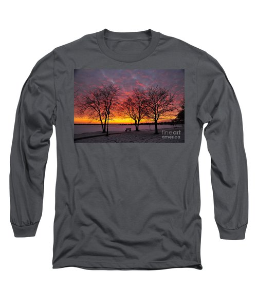 Long Sleeve T-Shirt featuring the photograph December Sunset by Terri Gostola