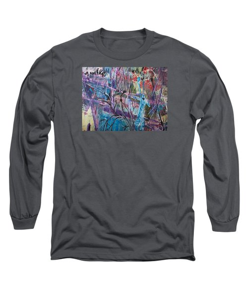 Deer In Magical Forest Long Sleeve T-Shirt