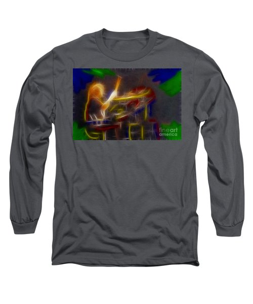 Def Leppard-adrenalize-gf24-ricka-fractal Long Sleeve T-Shirt by Gary Gingrich Galleries