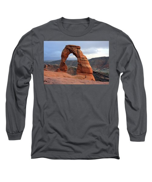 Delicate Arch - Arches National Park - Utah Long Sleeve T-Shirt by Aidan Moran