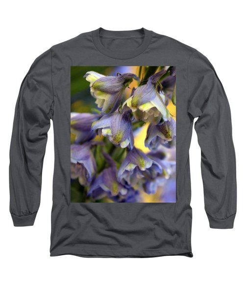 Delphinium Blue Long Sleeve T-Shirt by Joseph Skompski