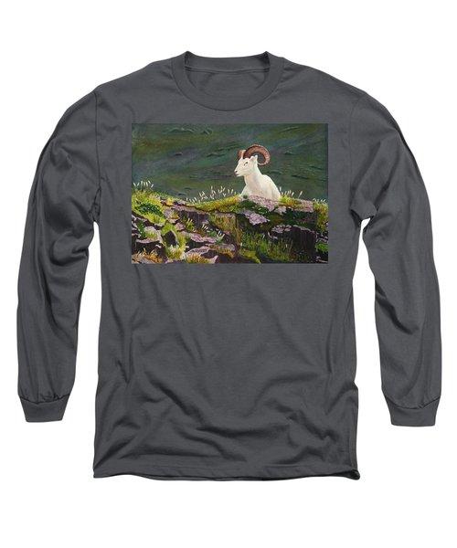 Denali Dall Sheep Long Sleeve T-Shirt by Mike Robles