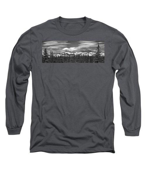 Denali In Clouds Long Sleeve T-Shirt