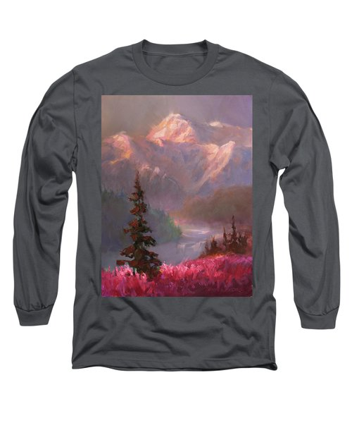 Denali Summer - Alaskan Mountains In Summer Long Sleeve T-Shirt