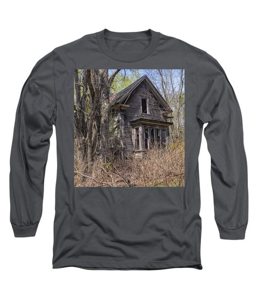 Long Sleeve T-Shirt featuring the photograph Derelict House by Marty Saccone