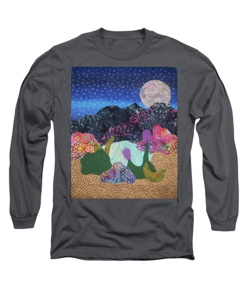 Long Sleeve T-Shirt featuring the tapestry - textile Desert Dreaming by Ellen Levinson