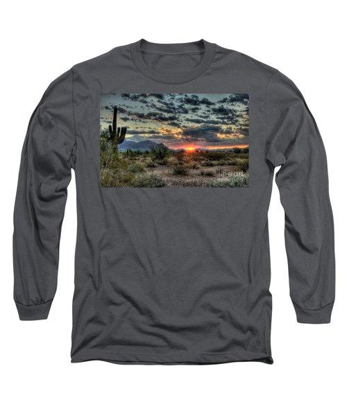 Desert Sunrise  Long Sleeve T-Shirt by Saija  Lehtonen