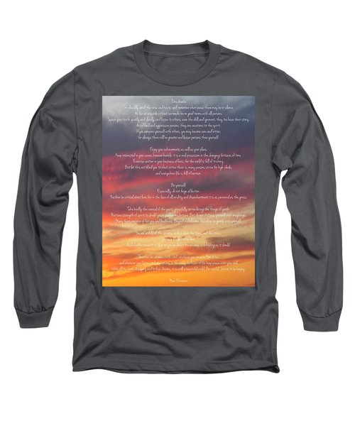Desiderata Sky 2 Long Sleeve T-Shirt by Terry DeLuco