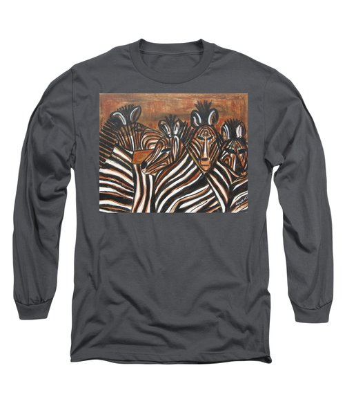 Zebra Bar Crowd Long Sleeve T-Shirt