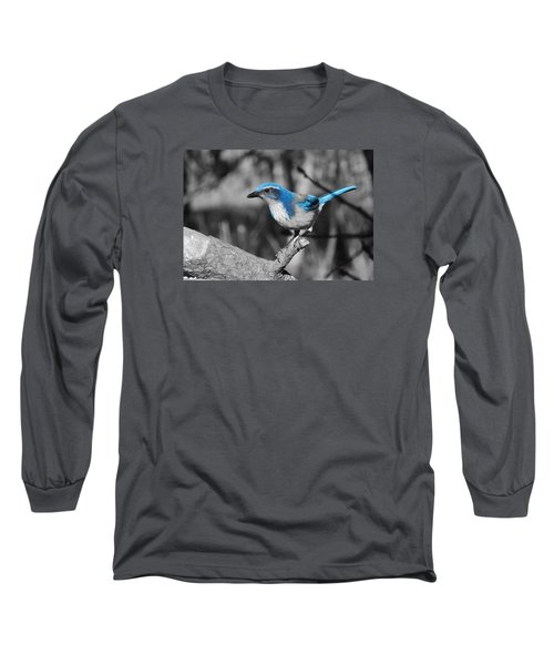 Dial Blue Long Sleeve T-Shirt by VLee Watson