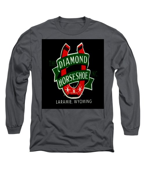 Long Sleeve T-Shirt featuring the digital art Diamond Horseshoe by Cathy Anderson