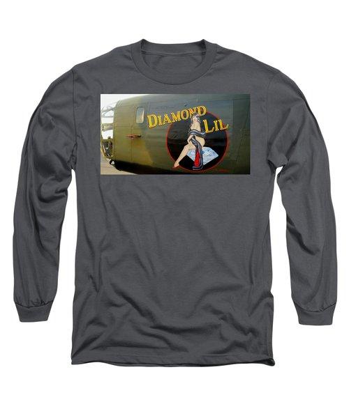 Diamond Lil B-24 Bomber Long Sleeve T-Shirt by Amy McDaniel