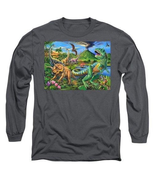 Dinosaur Scene Long Sleeve T-Shirt