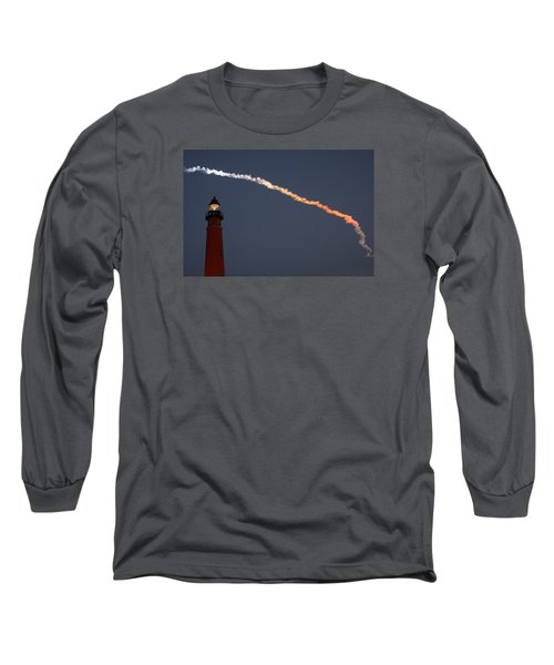 Long Sleeve T-Shirt featuring the photograph Discovery Sunset Plume by Paul Rebmann
