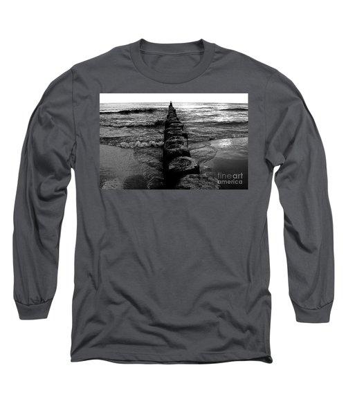 Distant Seagull Baltic Beach Long Sleeve T-Shirt