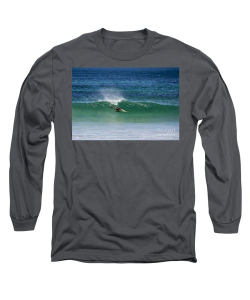 Diving Beneath The Curl Long Sleeve T-Shirt
